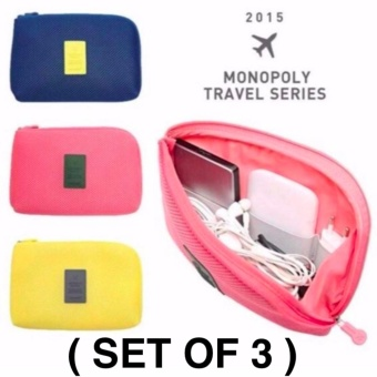 Bm Promo Sale Handy Travel Gadget Organizer Pouch (Set Of 3)
