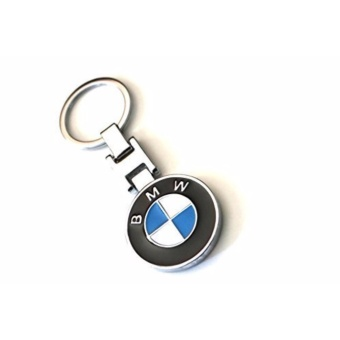 BMW logo Pendant Keychain Key Chain Ring Chrome