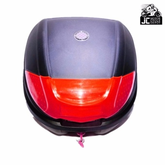 BMX Motorcycle Scooter Top Box Tail Trunk Storage Luggage Givi (Red) - 4