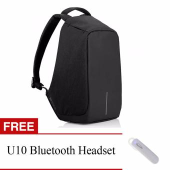 BOBBY Anti-Theft Backpack by XD Design (Dark Blue) With FREE U10Bluetooth Headset (White) Price Philippines