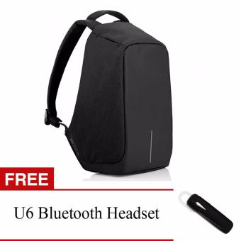 BOBBY Anti-Theft Backpack by XD Design (Dark Blue) With FREE U6Bluetooth Headset (Black) Price Philippines