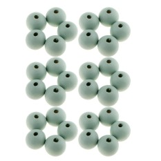 bolehdeals 30 pieces round wooden beads diy jewelry craft making 14mm loose beads 6