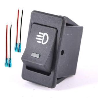BolehDeals 4Pins LED On/Off Rocker Toggle Switch Driving Fog Lamp/Work Green Light Bar - intl Price Philippines