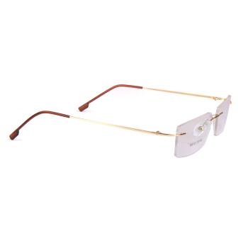 BolehDeals Fashion Metal Rimless Eye Glasses Eyeglasses Gold FrameLightweight - 5