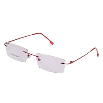 BolehDeals Fashion Metal Rimless Eye Glasses Eyeglasses Red Frame Lightweight Price Philippines