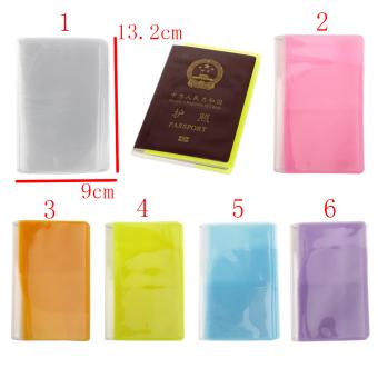 BolehDeals Transparent Passport Cover Holder Case Organizer ID CardProtector White - 2