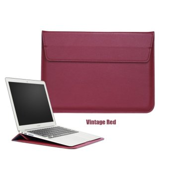 Bora 13.3'' Laptop Case Sleeve PU Leather Waterproof Case WitheStand Function Protective Carrying Bag for MacBook Air/ProRetian,ASus,Dell, Fujitsu, Lenovo, HP, Samsung, Sony, Toshiba -intl