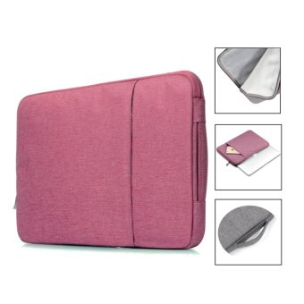 Bora 15.4'' Waterproof Laptop Sleeve Case HandBag Protective Coverfor Apple AlienwareMac,Micro Surface,Acer, Asus, Dell, Fujitsu,Lenovo, HP, Samsung, Sony, Toshiba (Pink) - intl