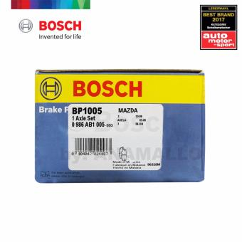 Bosch Front Brake Pads BP1005 for Ford EcoSport 1.5 Ti-VCT, Ford Focus 1.6 Ti-VCT/ 1.6i / 1.8i / 2.0 /2.0 TDCi / 2.0i, Mazda 31.6 / 32.0 ,Volvo C30 2.0/ C30 2.4 i / C30 T5 & OTHERS - 3