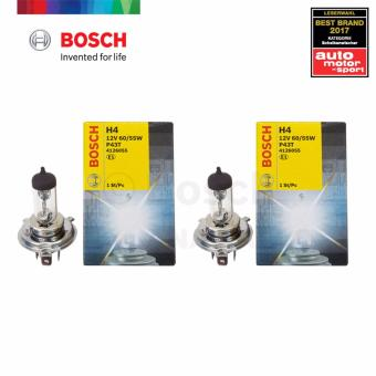 Bosch Standard H4 Halogen Bulb 12v 60/55w (Clear) Set of 2