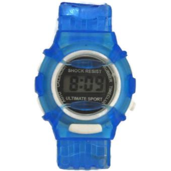 Boys Girls Students Digital Rubber Strap Sport Wrist Watch