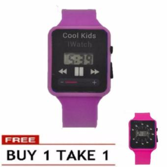 Boys Girls Students Time Electronic Digital LCD Wrist Sport Watch BUY 1 TAKE 1