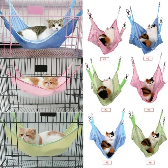 Breathable Pet Cat Dog House Hammock Bed Blue S - intl
