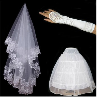 Bridal Veil New style wedding long dress support