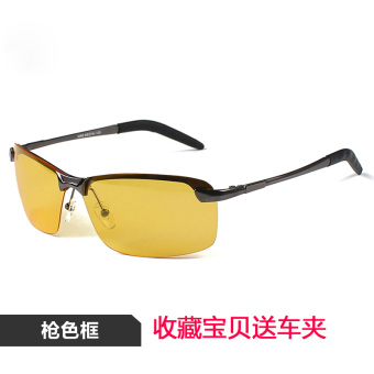Bright night vision mirror driving men polarized glasses