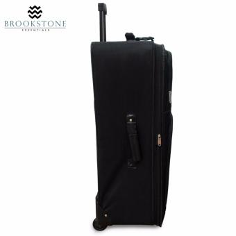 "Brookstone Essentials American Trunk & Case Capri II Collection Travel Luggage Set of 4 (18""/21""/27""/30"") - Black - 3"