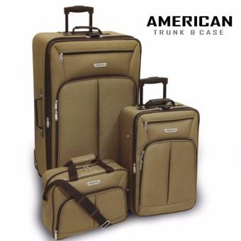 "Brookstone Essentials American Trunk & Case Jackson Travel Luggage Set of 3 SIZE (15"" x 21"" x 27"")"
