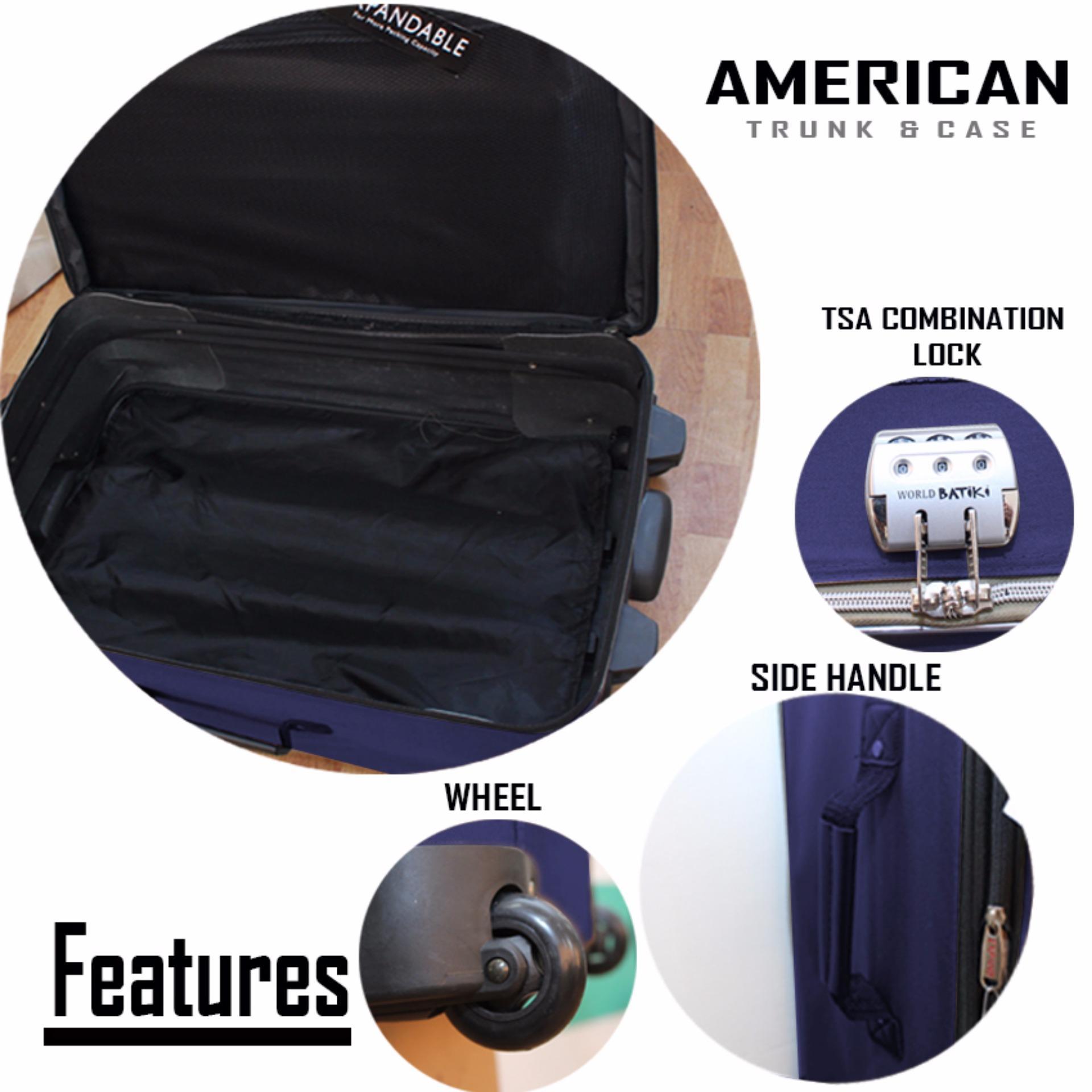 Brookstone Essentials American Trunk & Case Jackson Travel Luggage Set of 3 SIZE (15