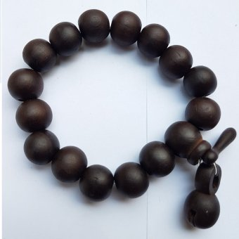 Buddha Small Mala Beads Bracelet (Black)