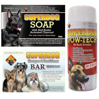Bundle Superdog Active Charcoal + Shampoo and Conditioner Bar +Pow-Tech Hi-Tech Powder Price Philippines