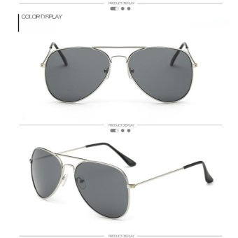 [Buy 1 Get 1 FREE] 2017 New Popular Eyewear Fashion Vintage CoolWomen Brand Designer Sunglasses Retro Men Classic Aviator SunGlasses Mirrored Shades Accessories UV400 - intl - 2