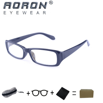 [Buy 1 Get 1 Freebie] AORON Brand New Style Anti-radiation Reading Glasses Anti-fatigue Computers Glasses Gold Film Eyeglasses 21007Black - intl