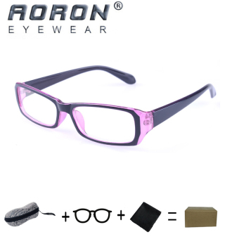 [Buy 1 Get 1 Freebie] AORON Brand New Style Anti-radiation Reading Glasses Anti-fatigue Computers Glasses Gold Film Eyeglasses (21007Red-Black) - intl