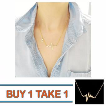 Buy One Take One 14K Yellow Gold Heartbeat Necklace