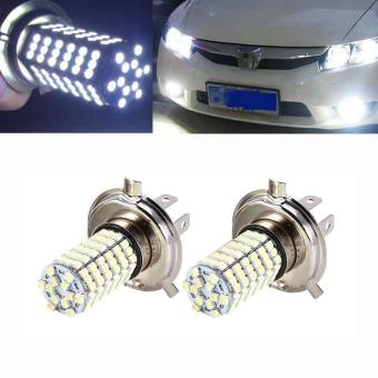 BUYINCOINS 2x H4 120 SMD Car Light Bulb Hi/Low LED Fog Headlight 9003 HB2 Lamp 6500K - intl