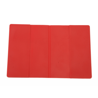 Buyincoins Colorful Waterproof Silicone Passport Cover (Red) - picture 2