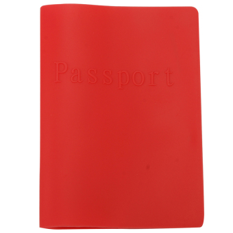 Buyincoins Colorful Waterproof Silicone Passport Cover (Red)