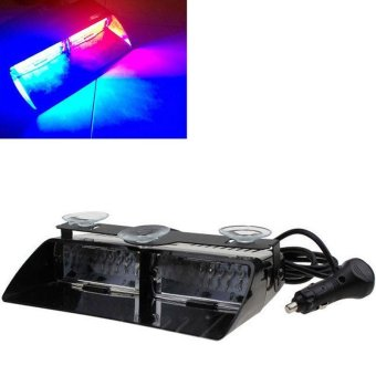 BUYINCOINS NEW Car 16 LED Red/Blue Police Strobe Flash Light Dash Emergency Flashing Light Multicolor - intl - 3