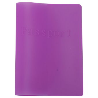 Buyincoins Waterproof Cover Case Silicone Passport Holder (Purple)