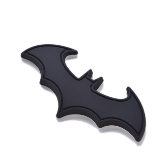 Buytra 3D Bat Logo Sticker Metal Auto Car Motorcycle Black