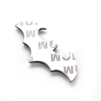 Buytra 3D Bat Logo Sticker Metal Auto Car Motorcycle Black - picture 2