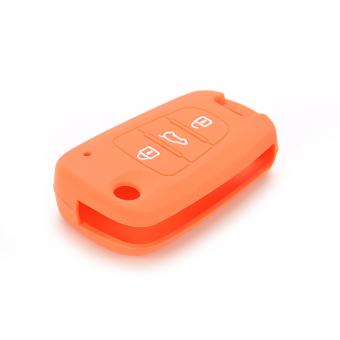 Buytra Car Key Case Cover Silicone For KIA Orange