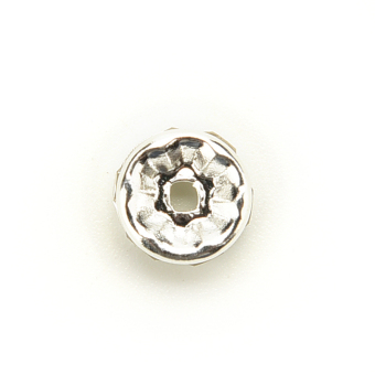 Buytra Czech Crystal Rhinestone Spacer Beads 8mm 100pcs Silver