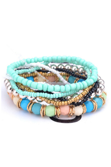 Buytra Multilayer Bracelet Bohemia 7 Layers Sky Blue