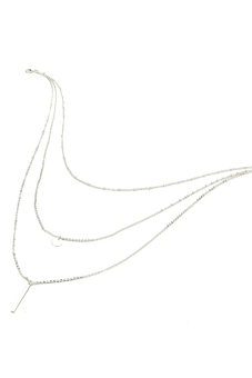 Buytra Pendant Necklace 3 Layers Silver Chain Coin (Silver) - picture 2