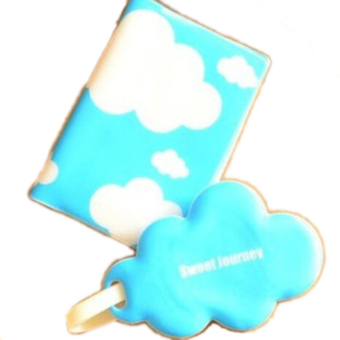 Buytra Travel Set Passport Holder + Luggage Tag Cloud