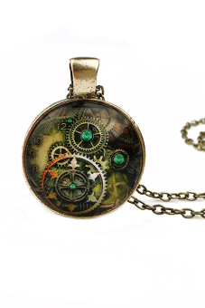 Buytra Vintage Necklace Compass Watch Bronze