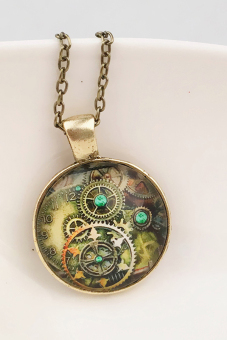 Buytra Vintage Necklace Compass Watch Bronze - picture 2