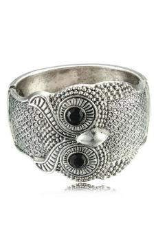 Buytra Women Cuff Bracelets Vintage Width Wide Owl Silver - picture 2