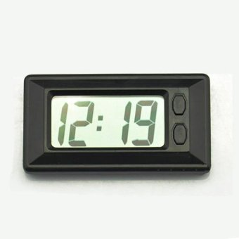 C33 Auto Car Mini Digital Interior LCD Screen Clock AutomotiveClock Calendar electronic meter - intl - 3