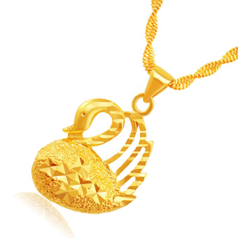 CADIS 24K Gold With The True Gold Plated Charming All The StarsLadies Necklace - intl