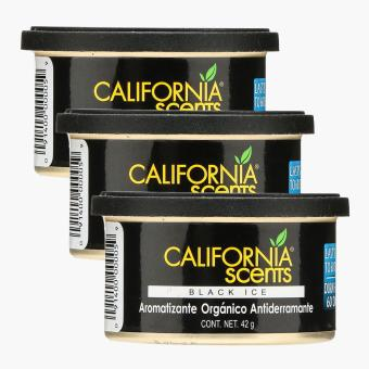 California Scents Black Ice Air Freshener (Set of 3)