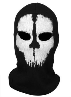 Call of Duty Cosplay #05 Balaclava Ghost Skull Face Masks for Motorcycle Cycling CS - intl