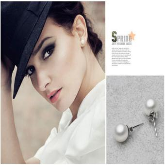 Candy Online 6MM Silver Freshwater Pearl Stud Earrings JewelryED029