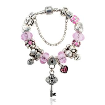 Candy Online Europe and the United States trendy 925 Silver Pandora Charm Bracelet Crystal Bracelet B15350