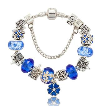 Candy Online Europe and the United States trendy 925 Silver Pandora Charm Bracelet Crystal Bracelet B16021